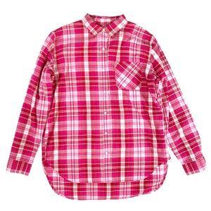 Denim Supply Ralph Lauren Size L Pink Plaid Shirt